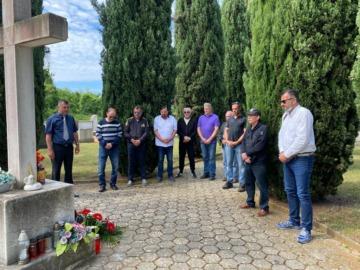 Obilježavanje Dana državnosti na mjesnom groblju u Funtani