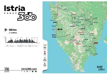 Međunarodna rekreativna biciklistička utrka ISTRIA300 - grafički prikaz