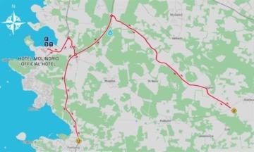 Manifestacija Plava Laguna 5150 triatlon Poreč - mapa zatvorenih cesta
